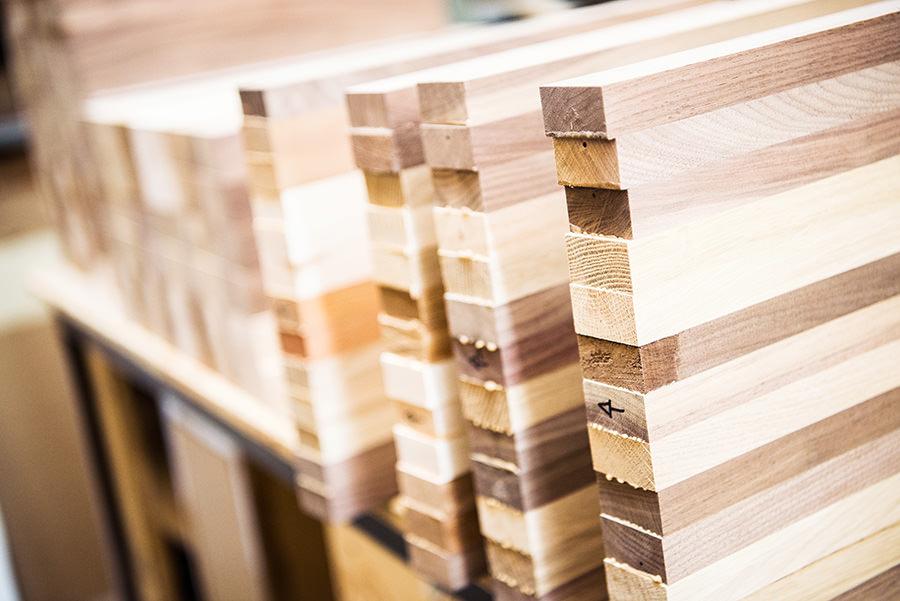 Planche à découper en bois, planche en bois, bloc de boucher